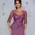Rochie midi de ocazii lila cu broderie catifelata cu paiete si la moda