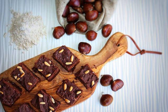 brownies alle castagne e pinoli
