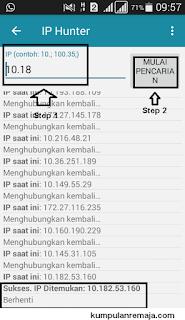 Mencari IP Adress Sakti kartu tri