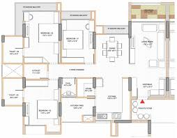 3 Bedroom Flat Plan Drawing 3d House Plans