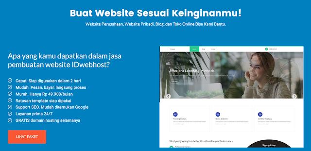 Layanan Pembuatan Website dan Toko Online Idwebhost