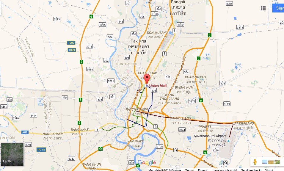Union Mall Bangkok Map Tourist Attractions in Bangkok Thailand – Thailand Tourist Attractions Map