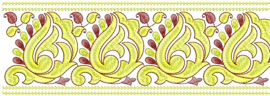 Embdesigntube Lace Border Embroidery Design Free Download