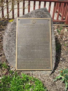 A Stone Commemorates the Opening of Westfeild Village