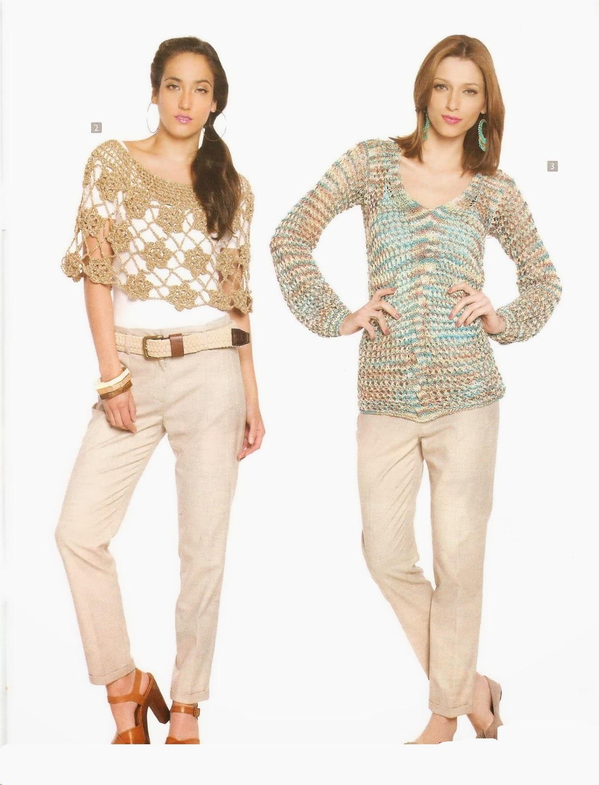 ❤ ✿ Mi Rincón del Tejido ✿ ❤: Dos modelos blusa dos agujas y ...