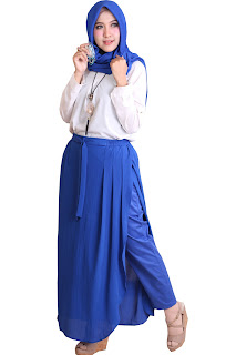 Rok Celana Muslimah Rocella Diva Blue