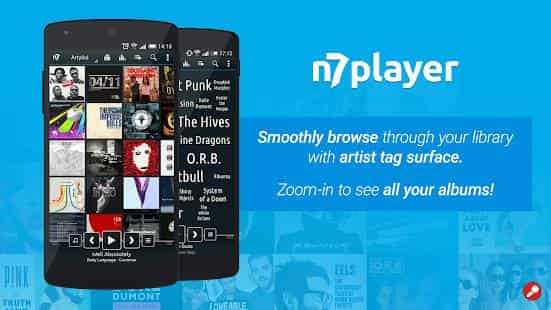 n7 free Music player app for android mobile