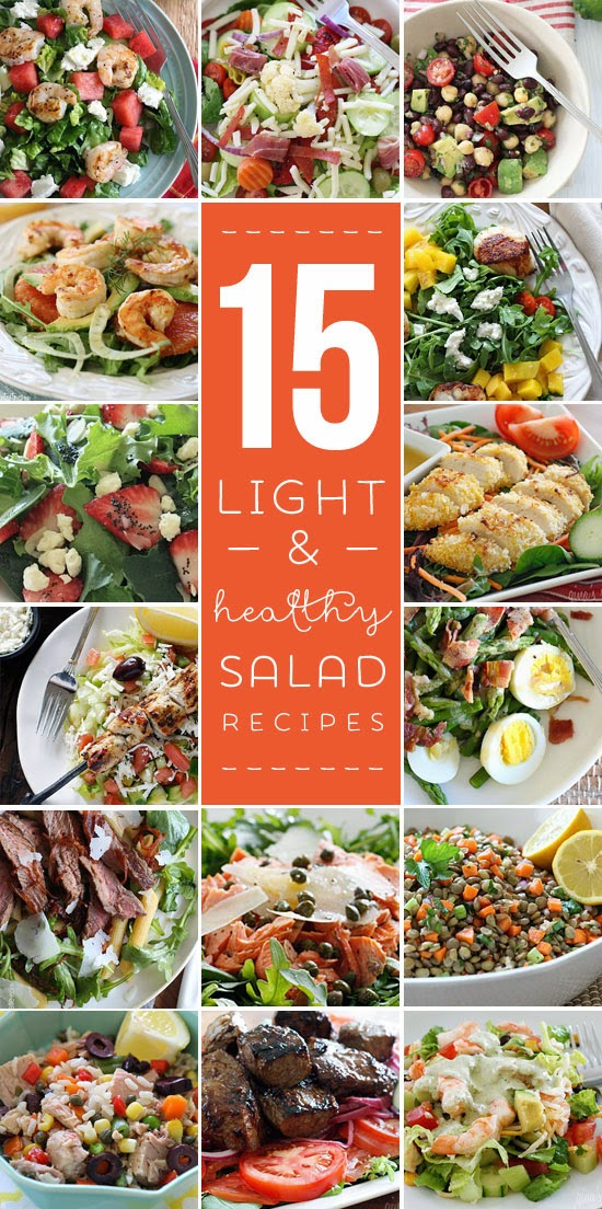 15 Light and Healthy Salad Recipes - crave-worthy salads that are far from boring!