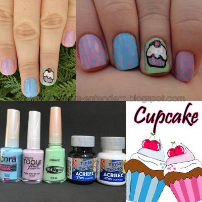 Nailart de Cupcake