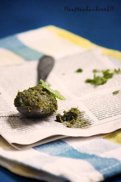 how to make Dhone Pata Bata / Bengali Coriander Leaves Paste recipe and preparation