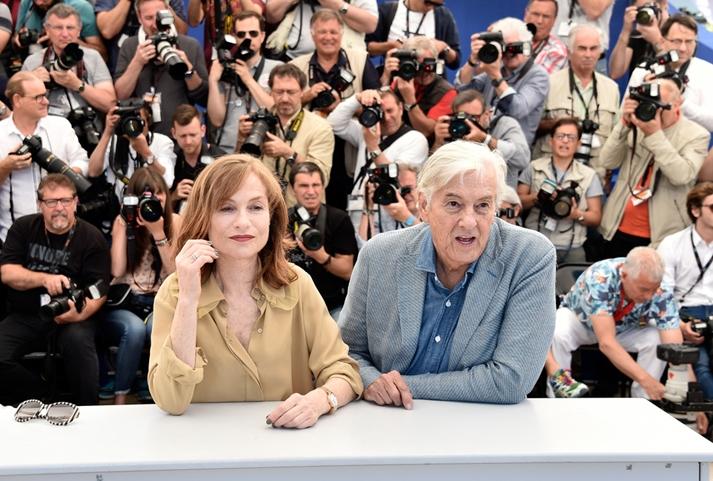 Isabelle Huppert y Paul Verhoeven en Cannes