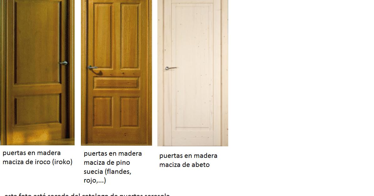 Made of wood que puertas de interior pongo en mi casa for Puertas de madera maciza exterior