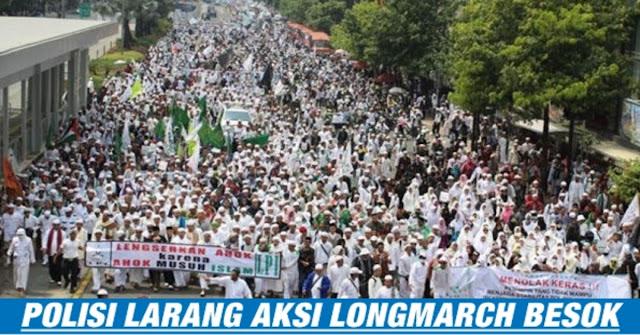 Kapolda Tegaskan Melarang Aksi Longmarch Besok !!