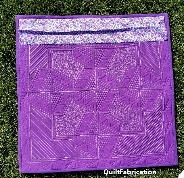 Serendipity Mini quilt backside
