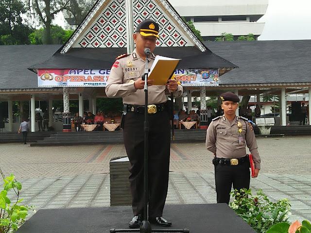 Polres Siantar Gelar Upacara Memberlakukan Ops LilinToba 2017
