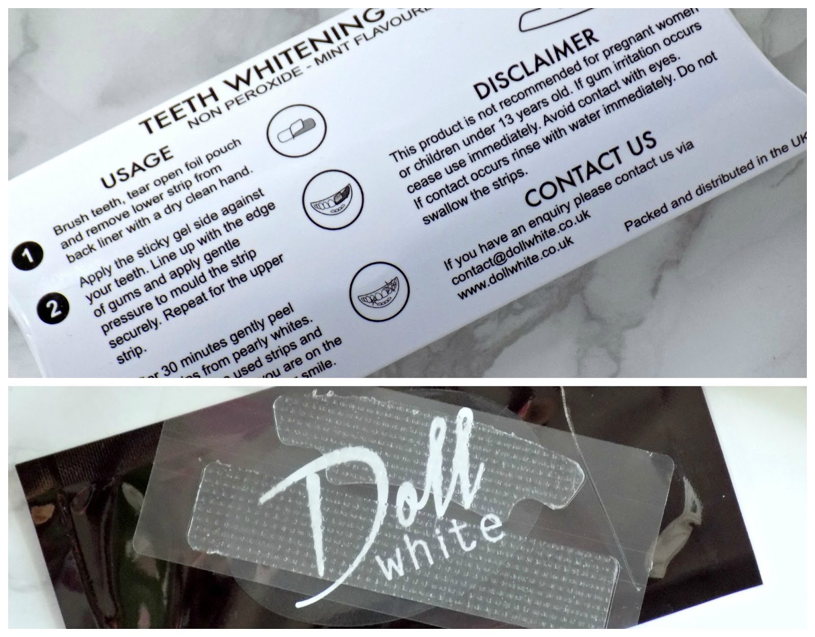 Doll White whitenning strips