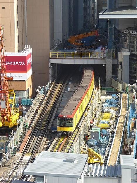 銀座線 渋谷行き3 1000系(2016年 渋谷駅改良工事中に撮影)