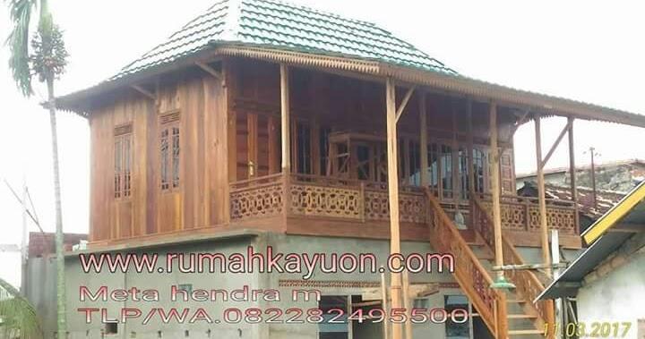 Rumah kayu knock down kontrakankost  Rumah Kayu Bongkar
