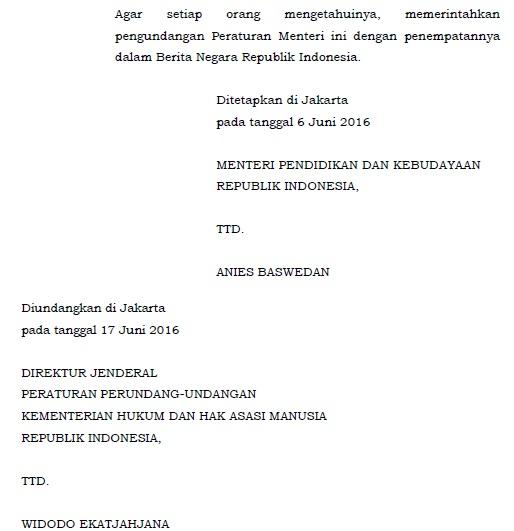 Silakan Download Permendikbud Nomor  Tentang Standar Penilaian Pendidikan