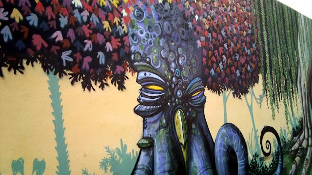 Murales de la valla del Jardín Botánico de Valencia, diciembre 2013 - Paseos Fotográficos Valencia