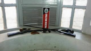 Destacamento Policial Militar de Nova Floresta apreende três armas de fogo