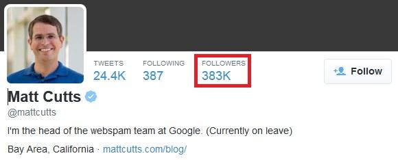 akun twitter dengan jumlah follower yang besar