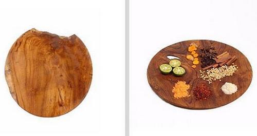 Tinuku.com Bc5758 studio presenting oval bowl documenting natural process tree roots