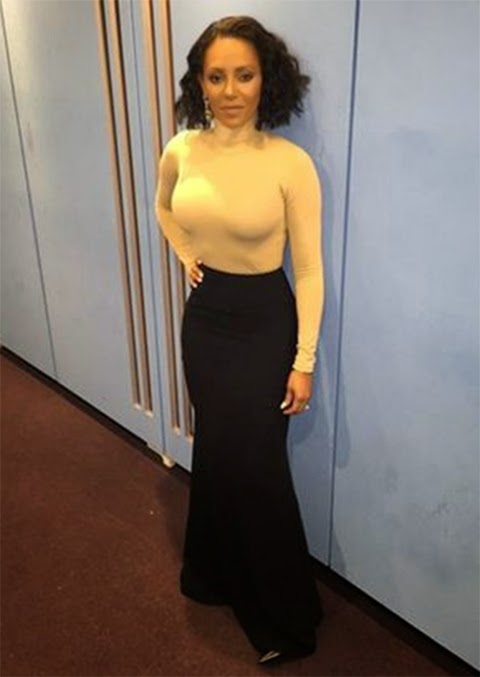 Mel B Nude Turtle Neck and Black Maxi Skirt | Live Shows Week 7 | Dupe