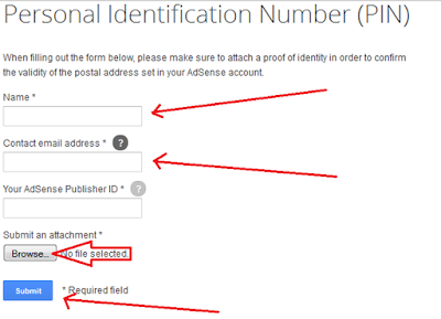 adsense address verification - proof of identity form