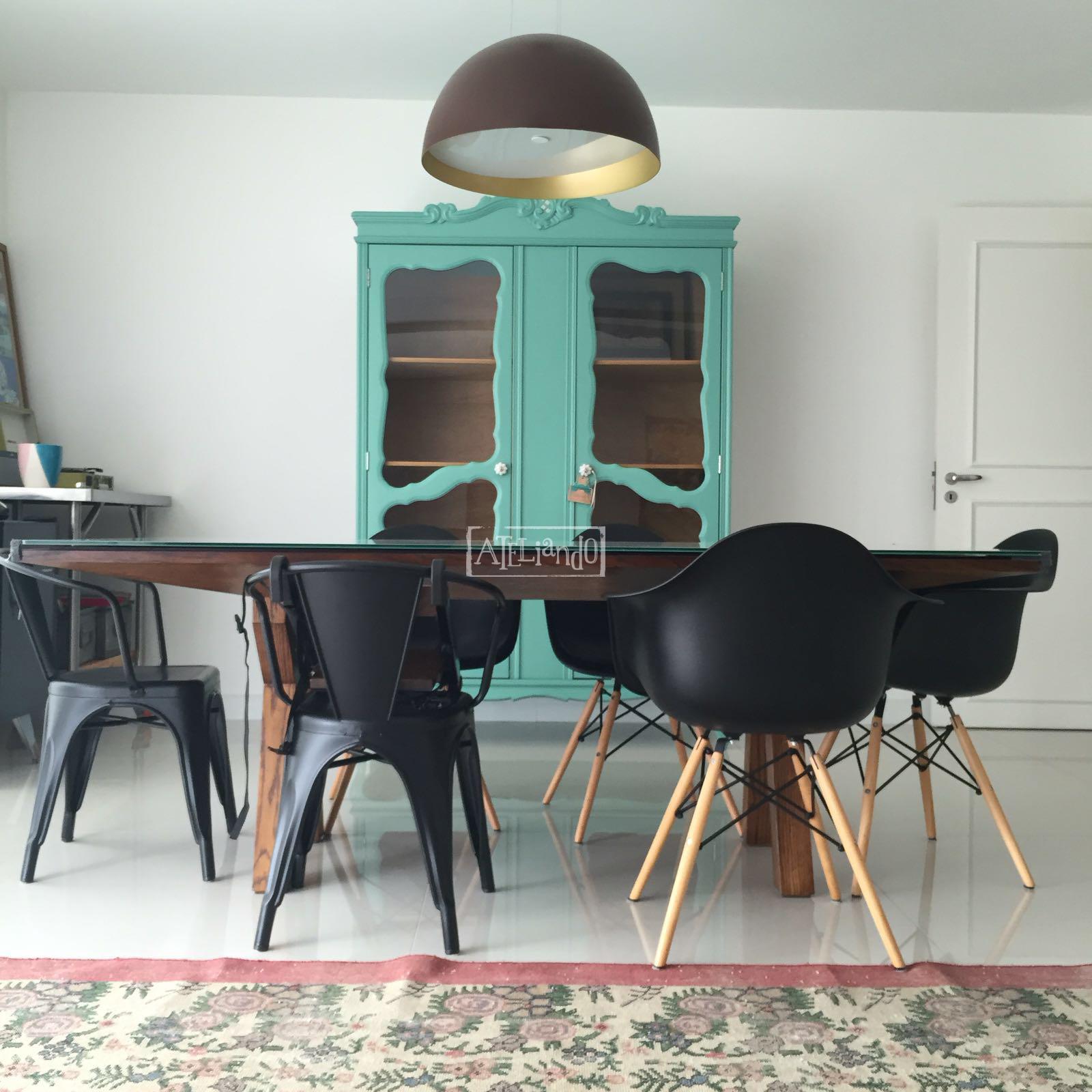 Ateliando customiza o de m veis antigos sala de jantar for Sala de estar retro vintage
