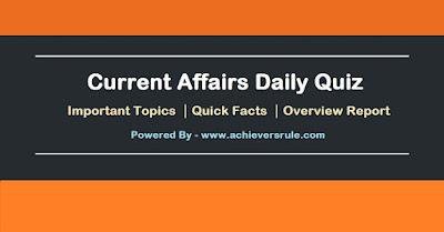 Current Affairs Daily Quiz - 7th June 2017