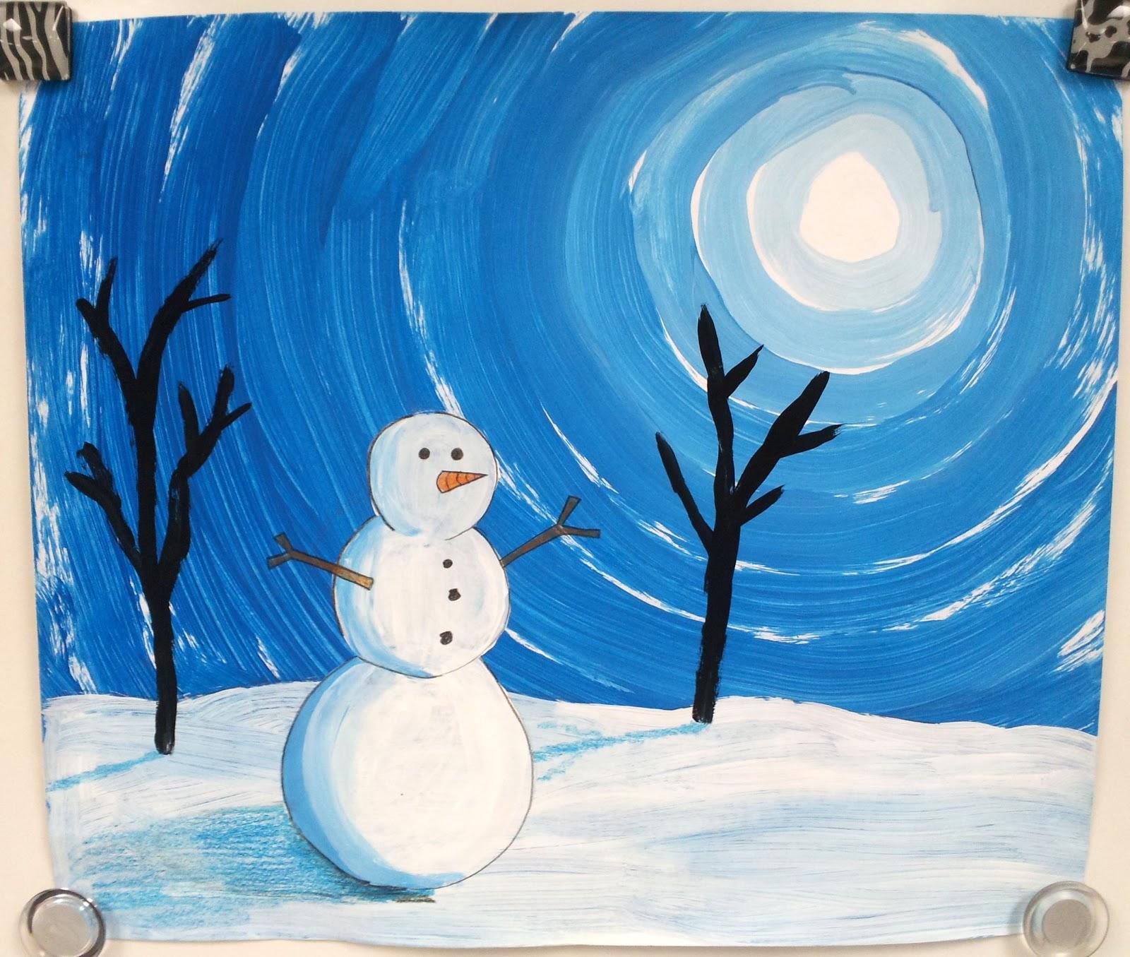 Winter Art Lessons For Grade 3