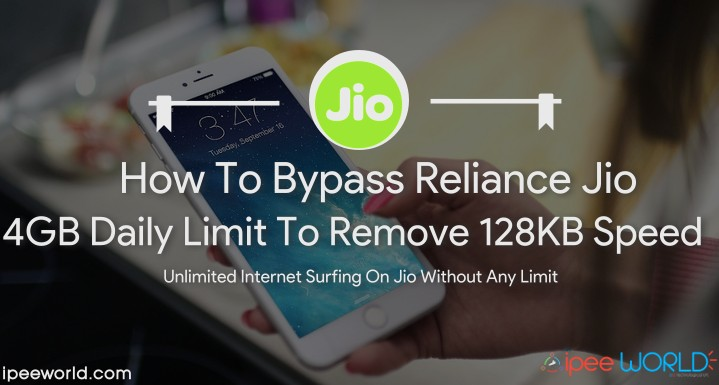 How To Bypass 4GB Daily Data Usage Limit in Reliance jio
