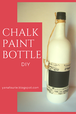 Chalk Paint Wine Bottle, DIY, Tutorial, Craft, decoration, Yana Fourie, Eccentric Eclectic Studio