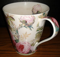 Flowery cup