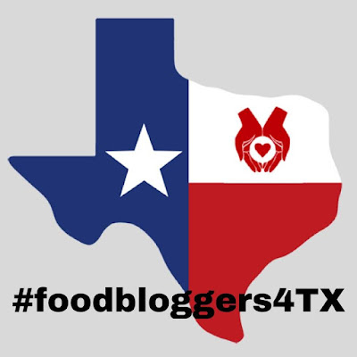shape of the state of Texas saying food bloggers for Texas