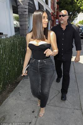 Kim Kardashian shows off new hair do