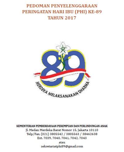 Pedoman Peringatan Hari Ibu (PHI) Ke-89 Tahun 2017