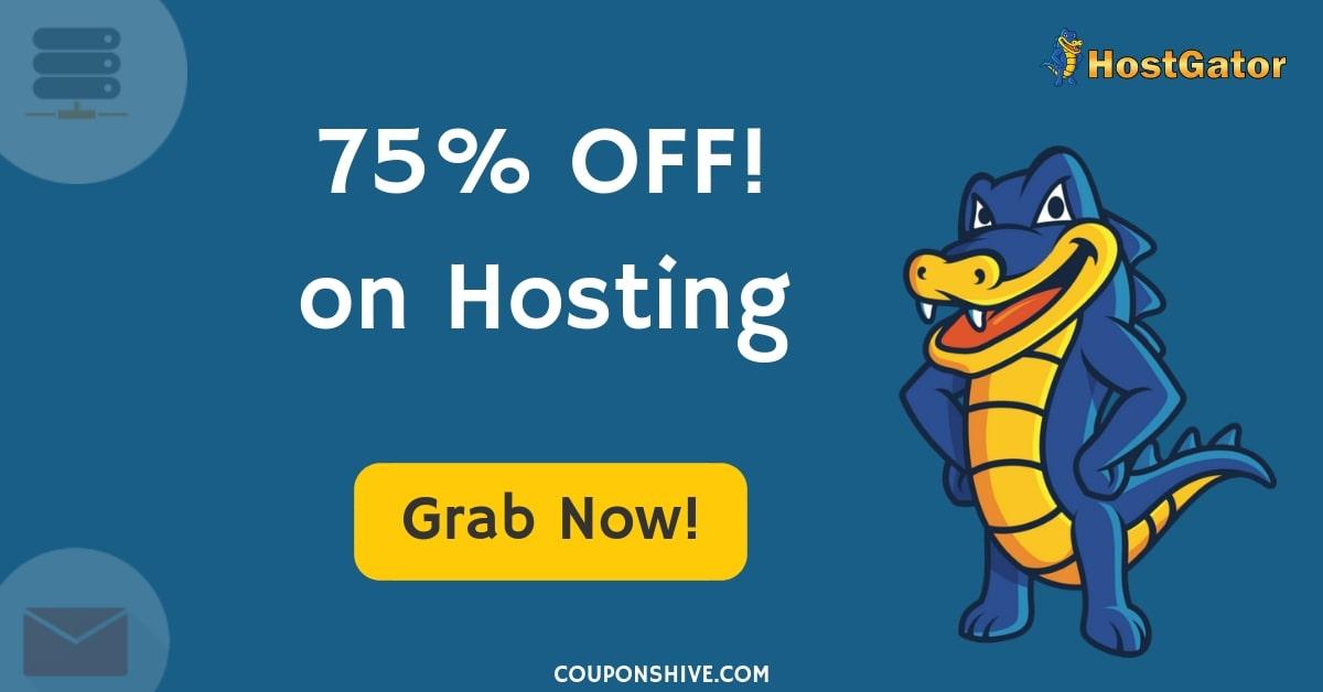HostGator Coupon Codes 2019 | Get Upto 75% OFF On Hosting - CouponsHive
