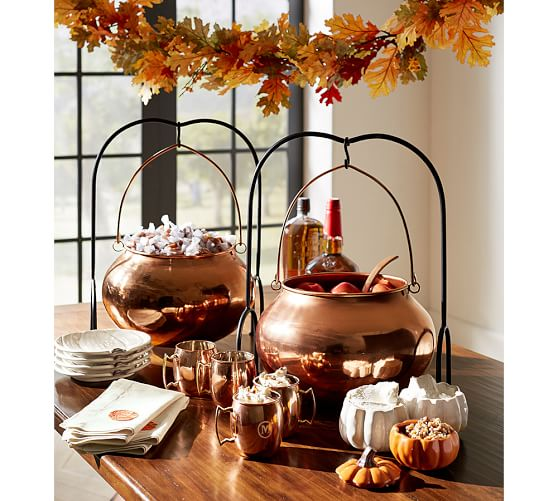 this copper cauldron is new and really fun - Pottery Barn Halloween Decor