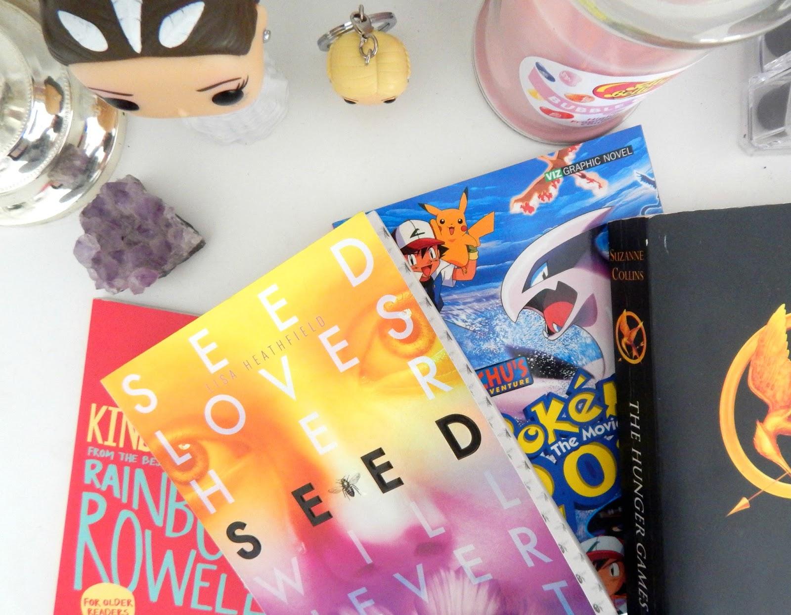 Several books on a desk