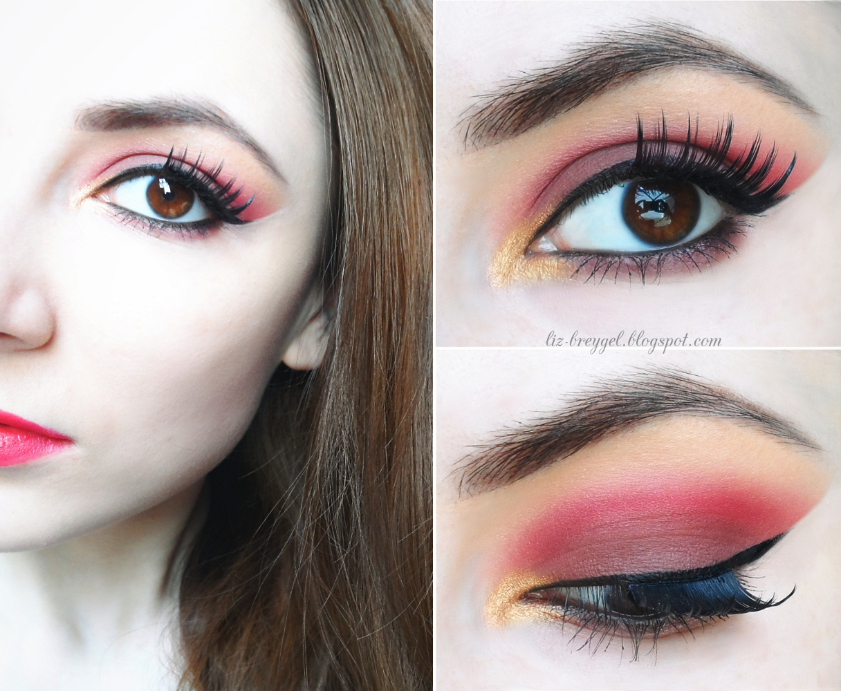 step by step tutorial red eyeshadows for brown eyes makeup
