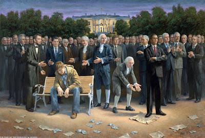 Barack Obama und der amerikanische Kongress und Verfassung lustig