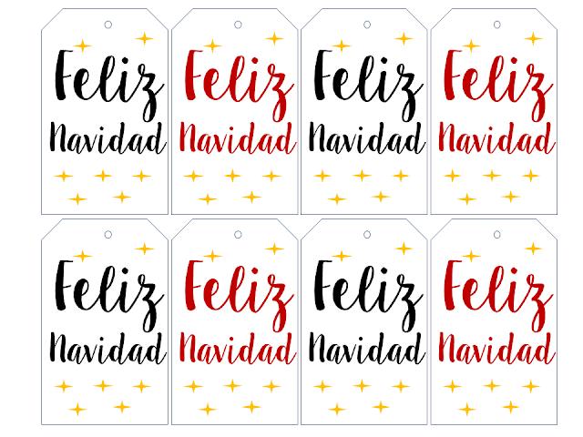 etiquetas para regalos de Navidad gratis