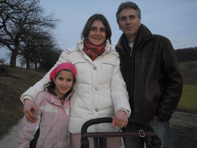 Ritter Wolf und ich und meine älteste Tochter Sophie, Hoffenheim 2009
