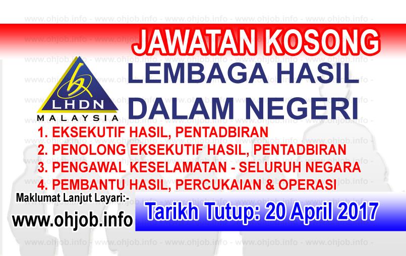 Jawatan Kerja Kosong LHDN - Lembaga Hasil Dalam Negeri logo www.ohjob.info april 2017
