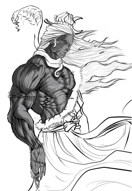 Lord shiva hd sketch image