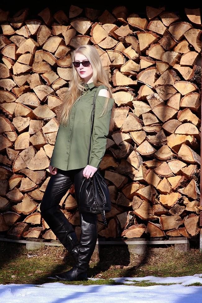Khaki shirt anja rubik x mohito SimplyTheBest Blog created by Ewa Sularz
