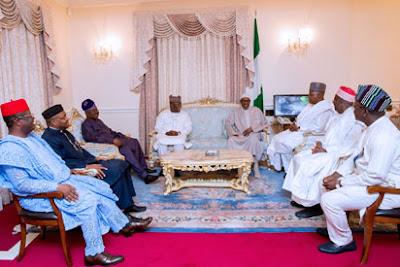 Buhari, New Photos of Buhari, Wife Receiving delegate In London