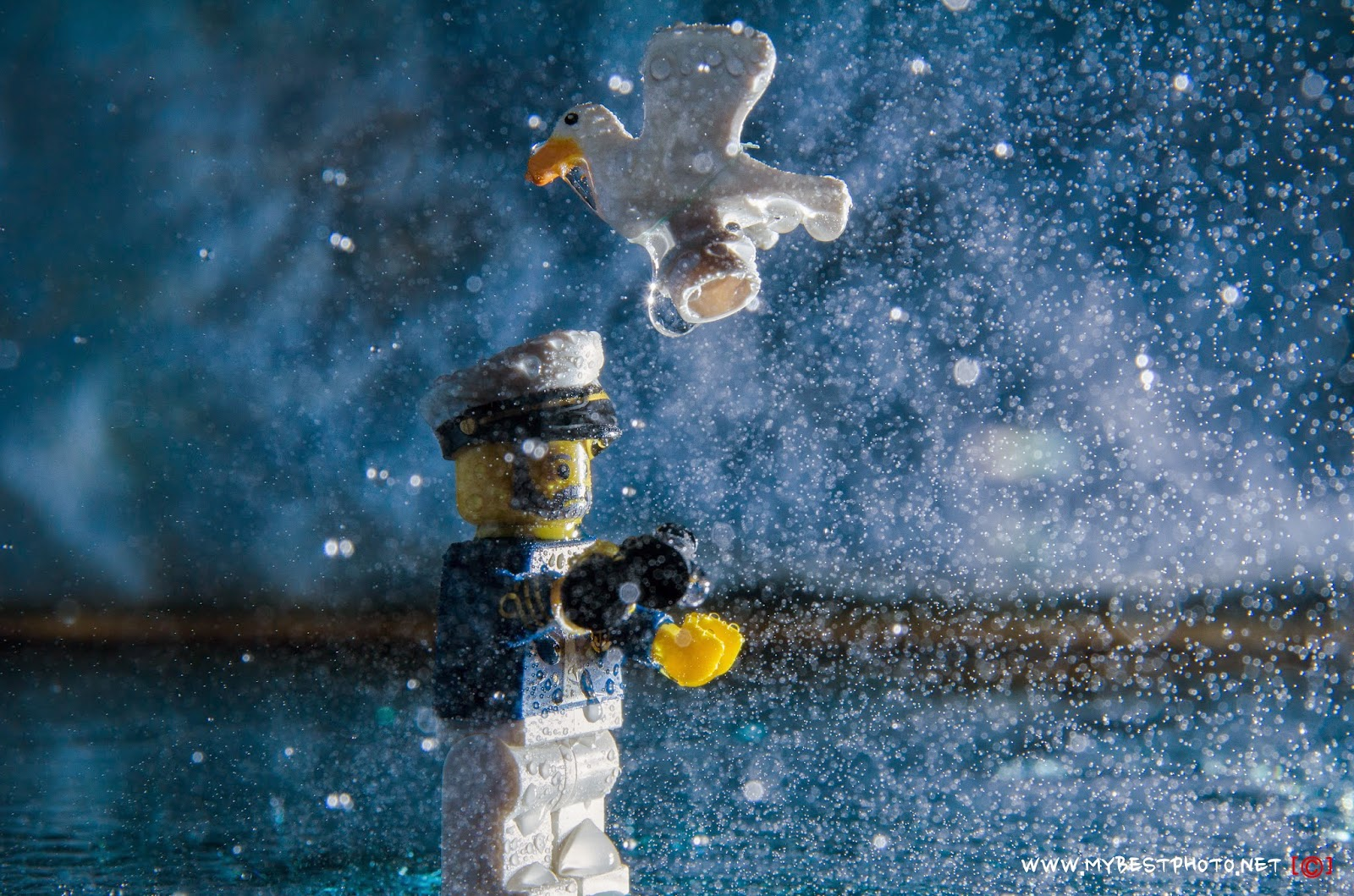 Lego Minifigure Series 10 Sea Captain - Wallpaper